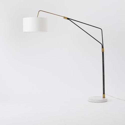 Used West Elm Mid-Century Overreaching Floor Lamp for sale on AptDeco
