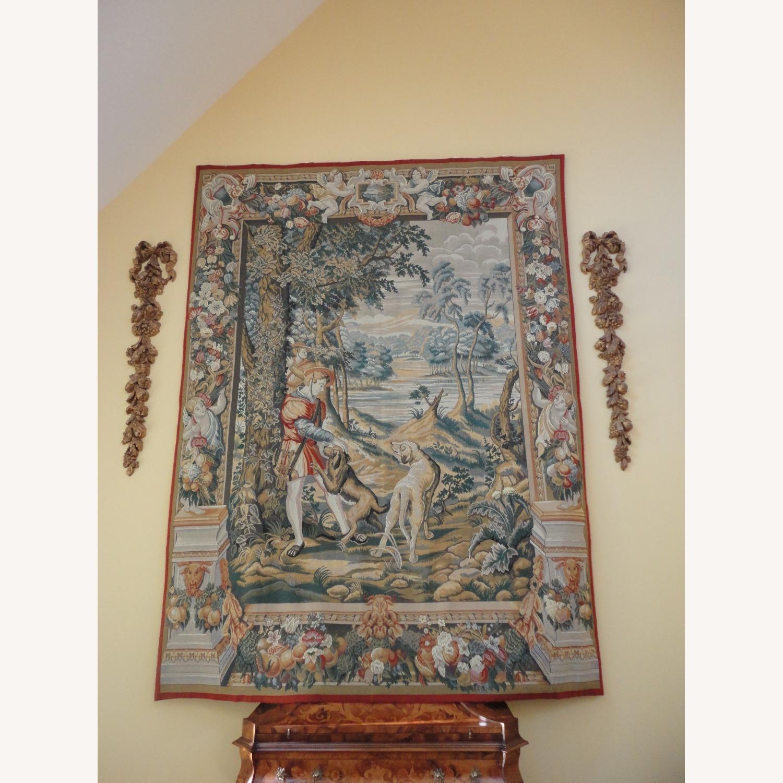 Large Tapestry, Renaissance Motif, + Rod + Panels - image-1