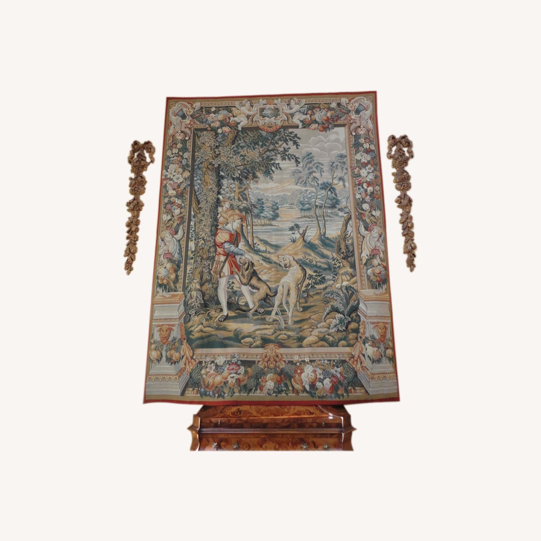 Large Tapestry, Renaissance Motif, + Rod + Panels - image-0