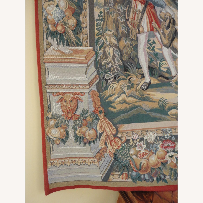 Large Tapestry, Renaissance Motif, + Rod + Panels - image-2