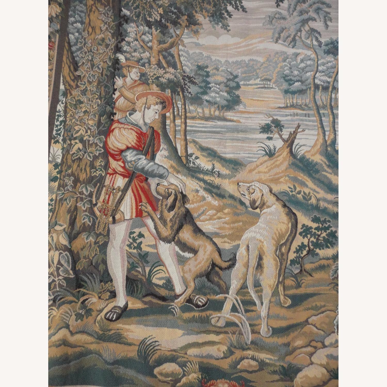 Large Tapestry, Renaissance Motif, + Rod + Panels - image-3