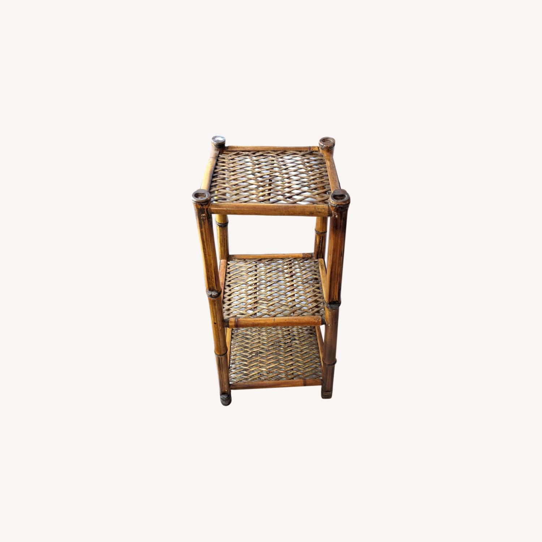 3 Tier Vintage Bamboo Shelf - image-0