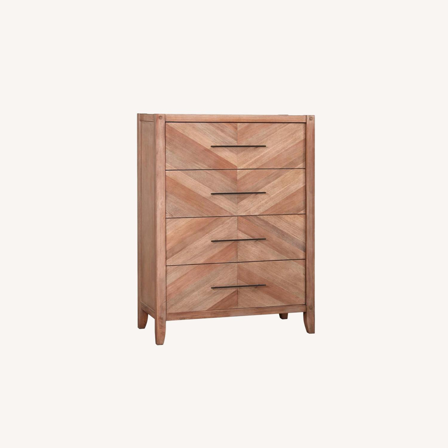 Chest in White Wash Natural Finish w/ Long Handles - image-7