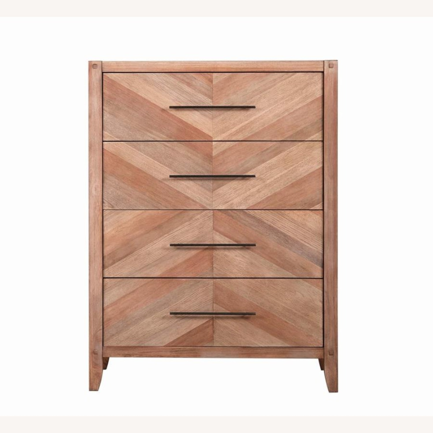 Chest in White Wash Natural Finish w/ Long Handles - image-2