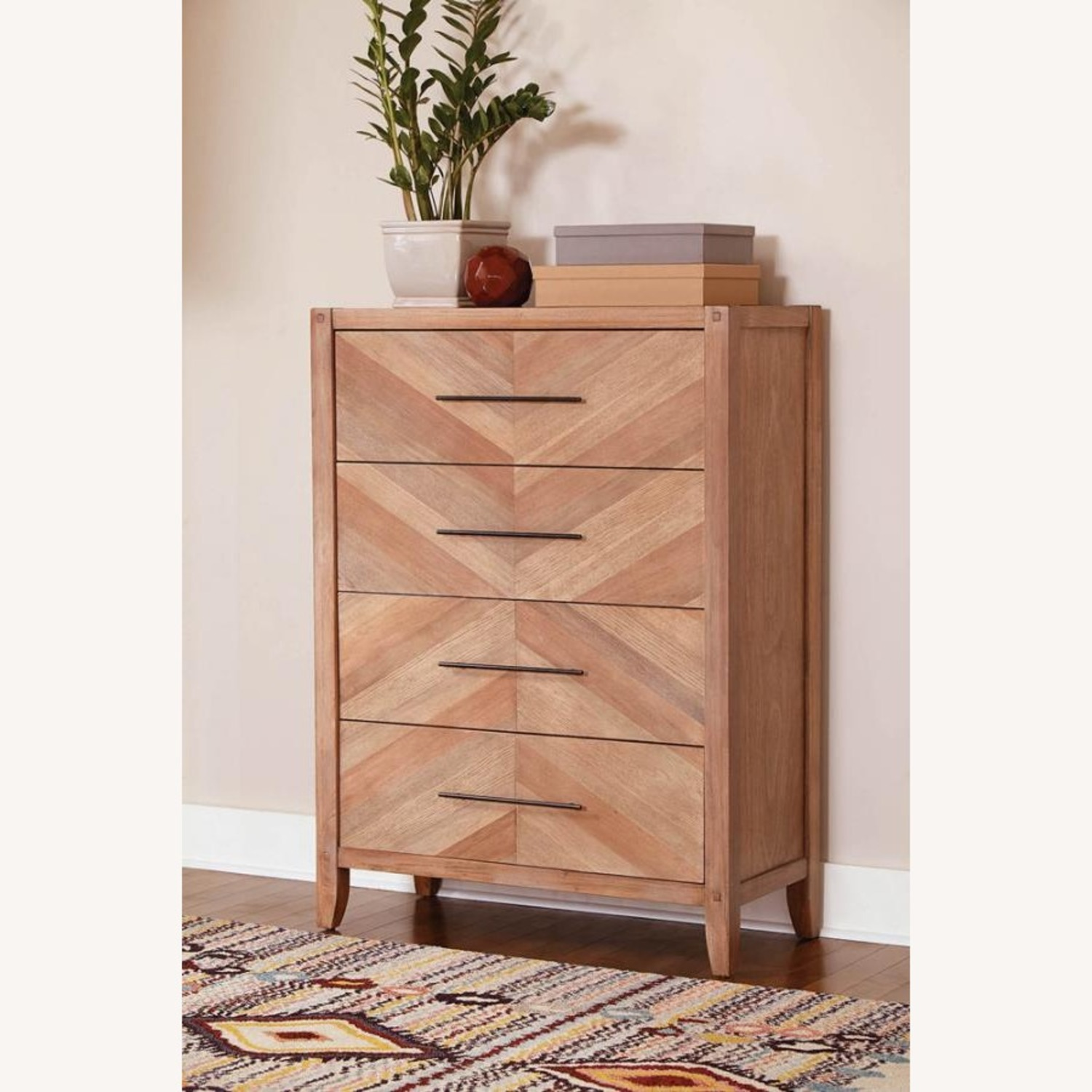 Chest in White Wash Natural Finish w/ Long Handles - image-4