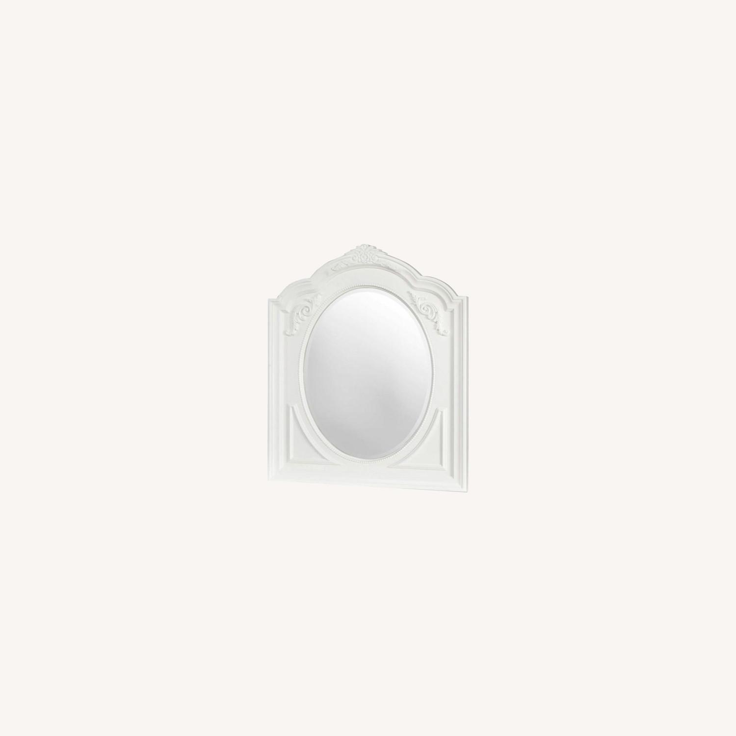 Opulent Style Mirror In White Frame Finish - image-4
