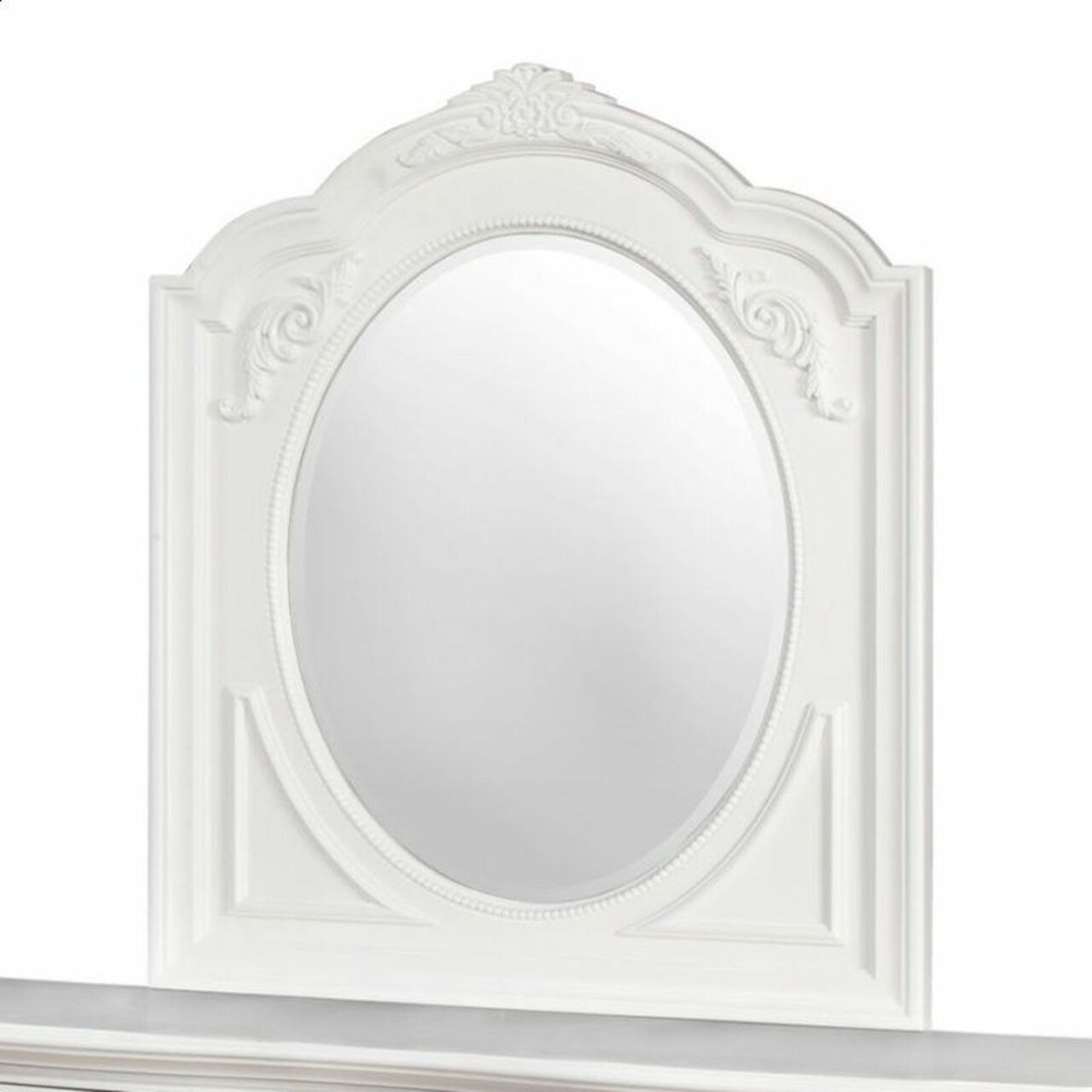 Opulent Style Mirror In White Frame Finish - image-0