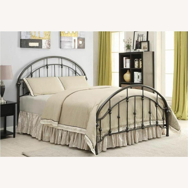 Twin Bed In Dark Bronze Metal Frame Finish - image-2