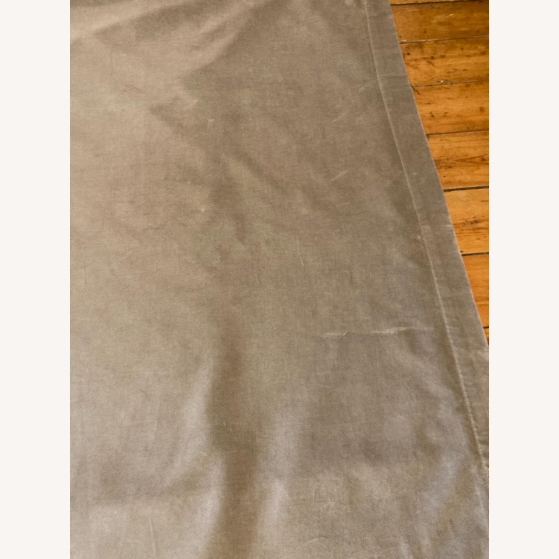 West Elm Dove Grey Velvet Blackout Curtain - image-4