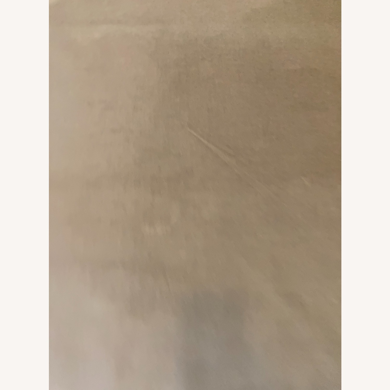 West Elm Dove Grey Velvet Blackout Curtain - image-5