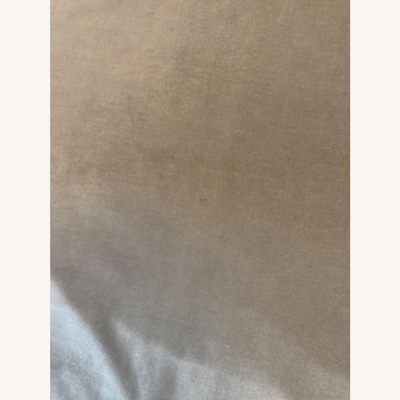 West Elm Dove Grey Velvet Blackout Curtain - image-7
