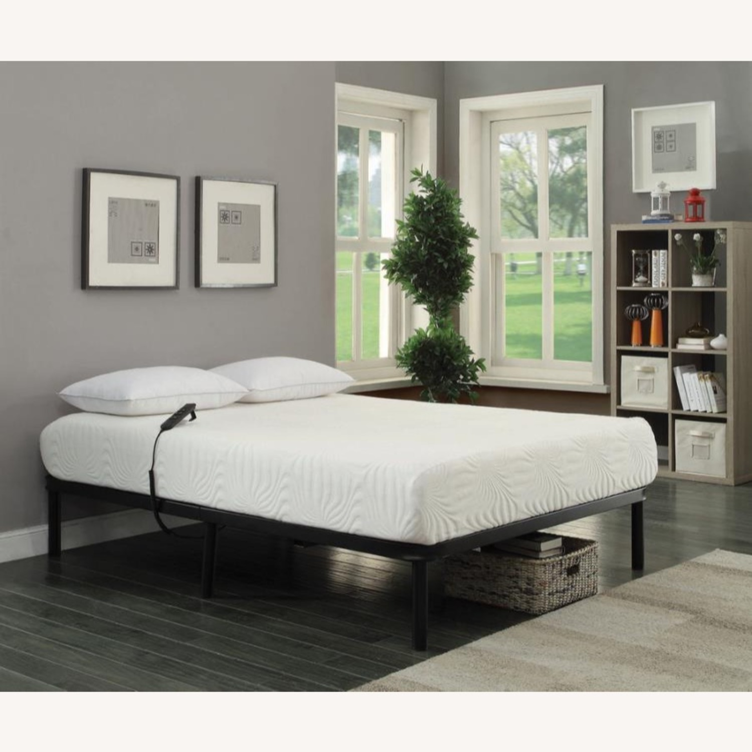 Adjustable Twin XL Bed Base In Black Finish - image-1