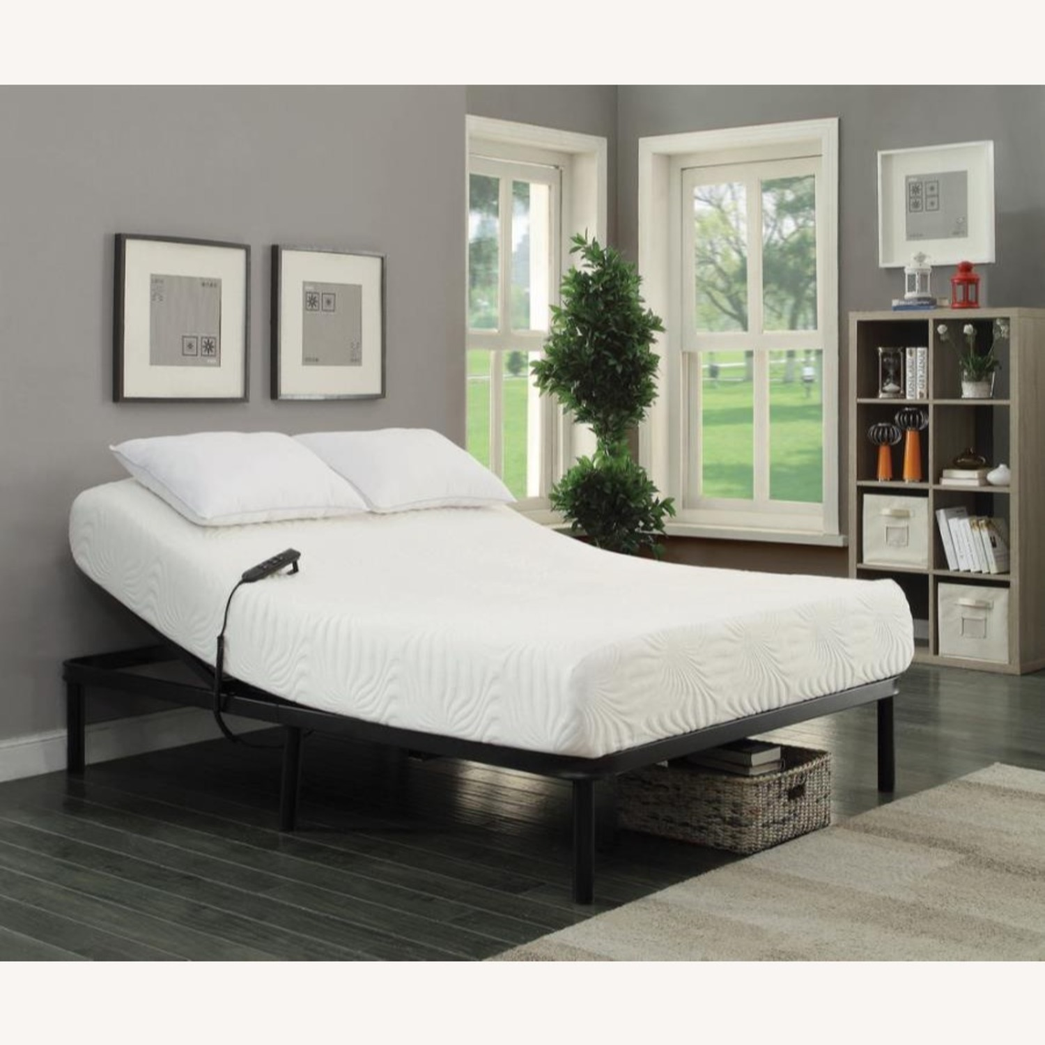 Adjustable Twin XL Bed Base In Black Finish - image-2