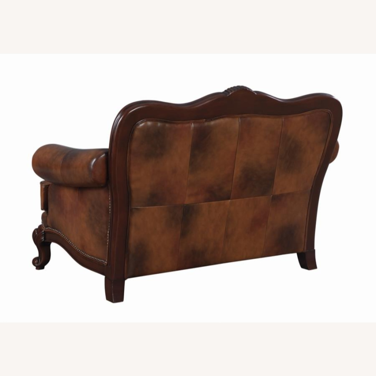 Loveseat In Tri-Tone Leather Finish - image-1