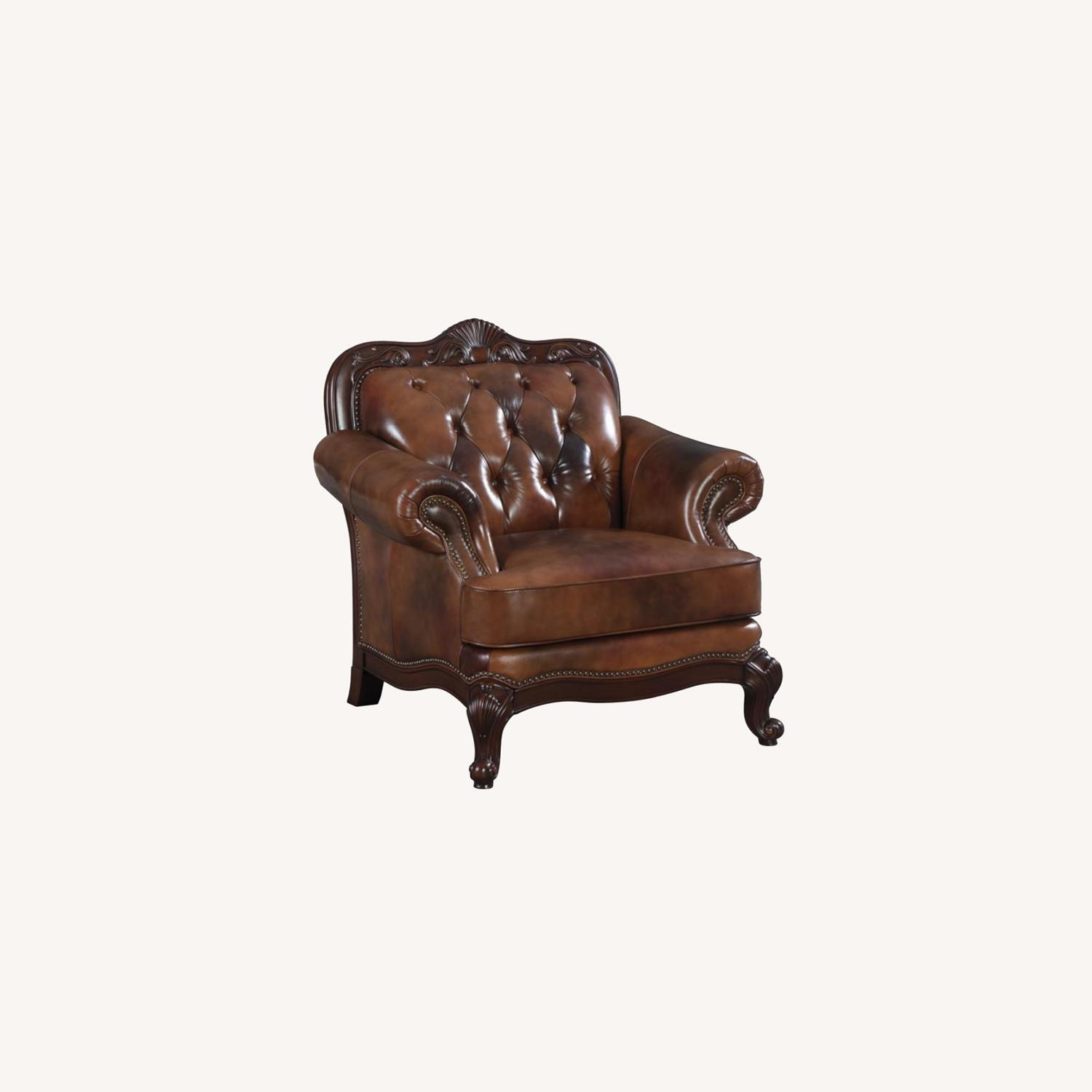 Chair In Tri-Tone Leather Finish - image-3