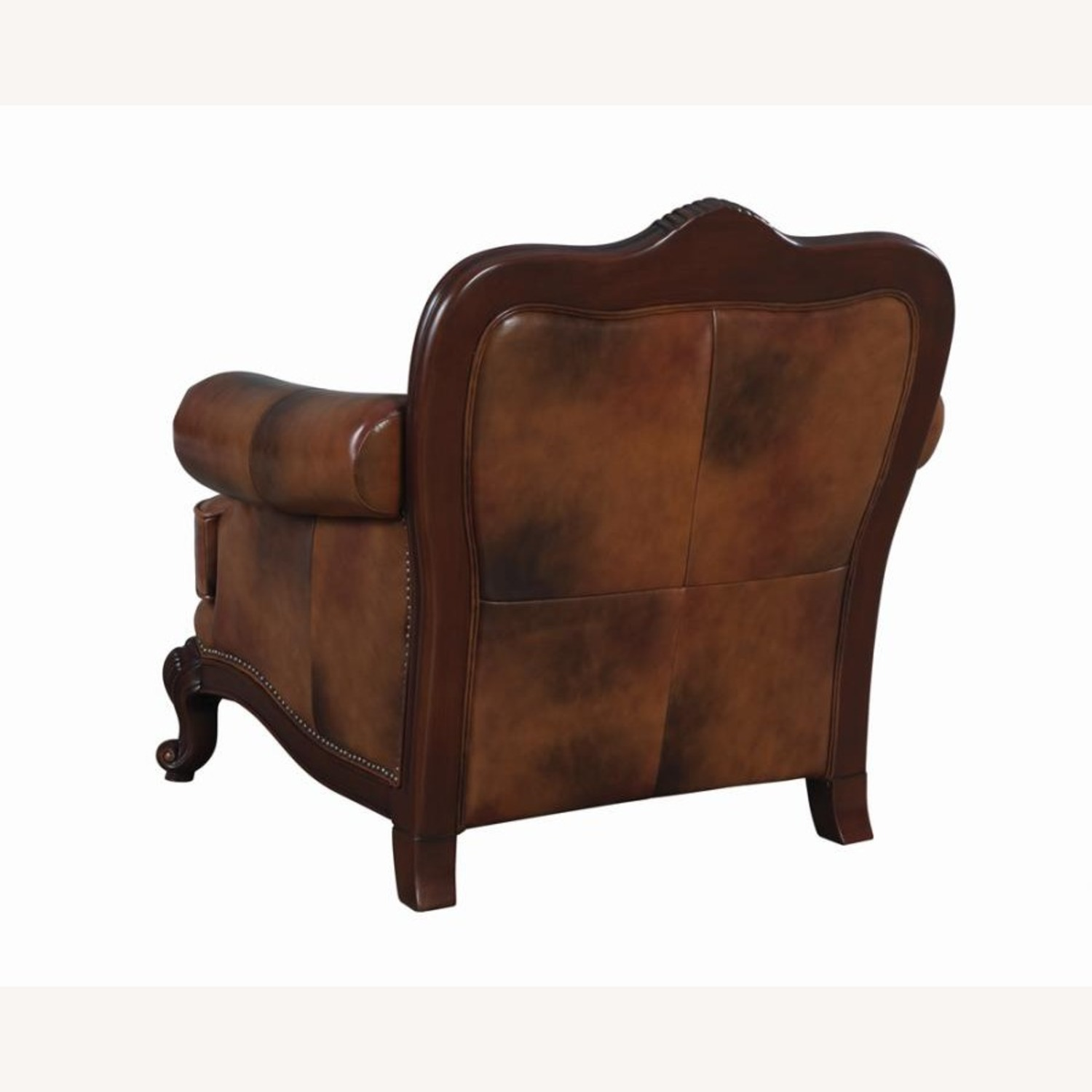 Chair In Tri-Tone Leather Finish - image-1