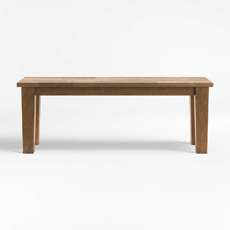Crate & Barrel Wood Bench - image-0