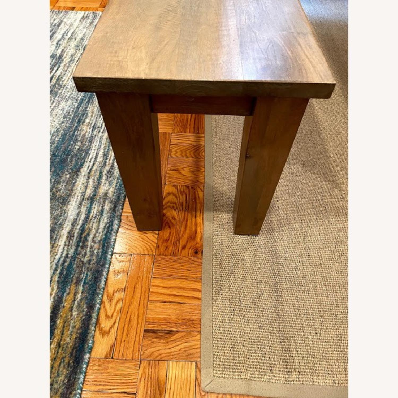 Crate & Barrel Wood Bench - image-3