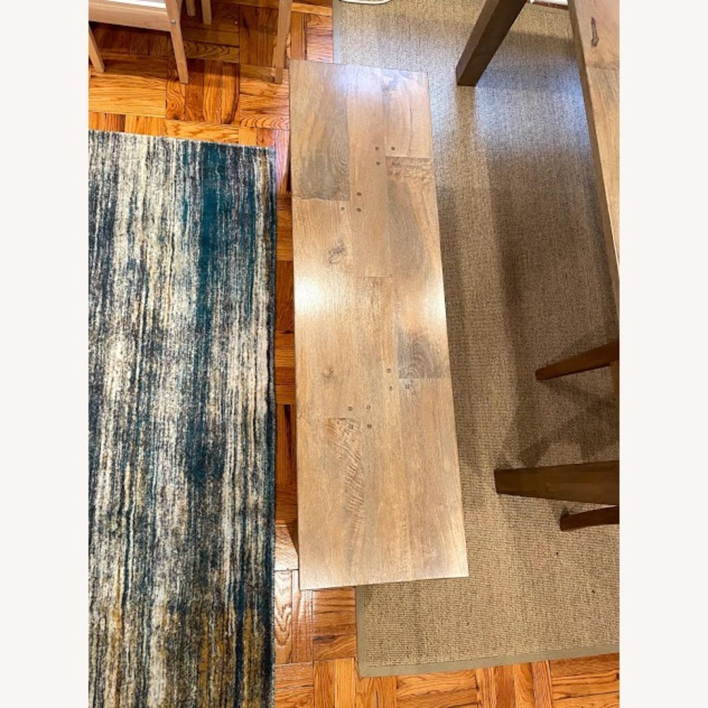 Crate & Barrel Wood Bench - image-2