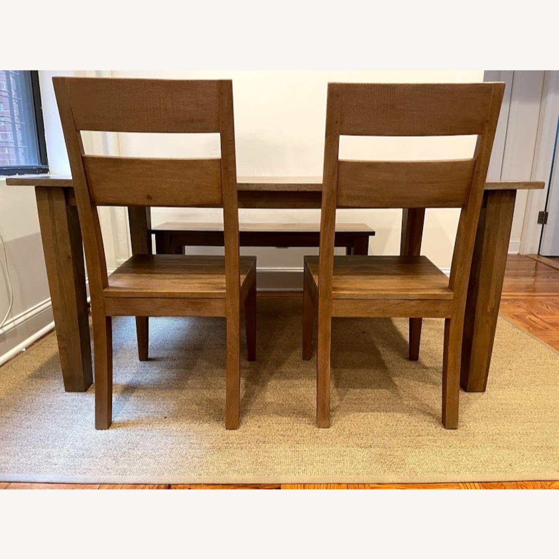 Crate & Barrel Wood Bench - image-4