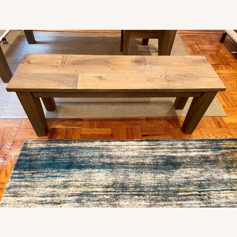 Crate & Barrel Wood Bench - image-1