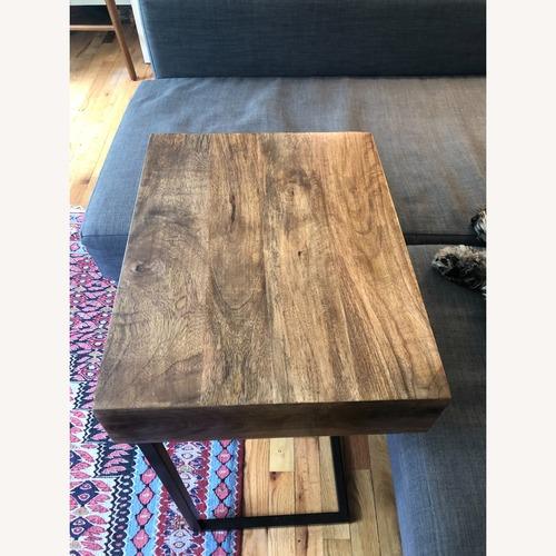 Used World Market Wood Alec Laptop Table with Shelf for sale on AptDeco