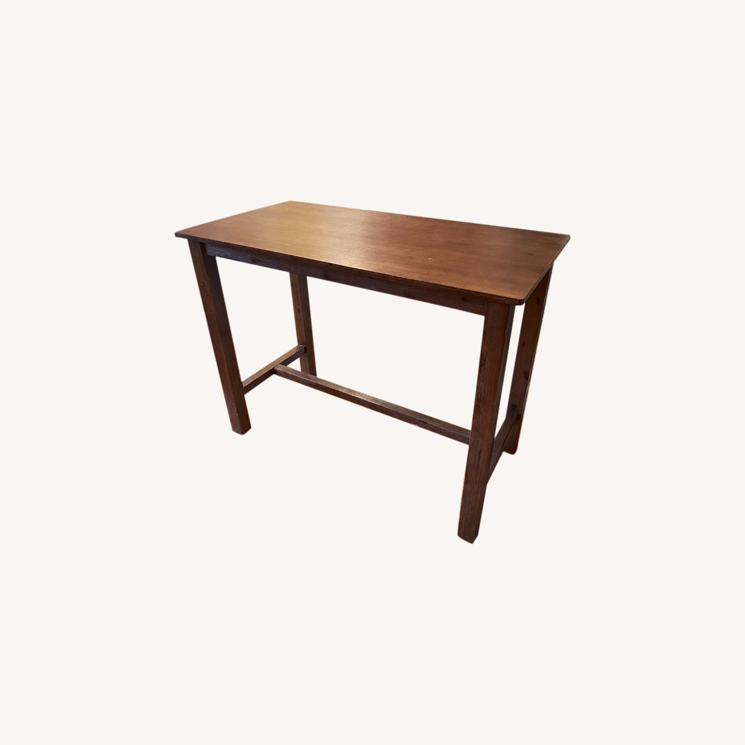 Wayfair Counter Height Rubberwood Solid Wood Dining Table - image-0