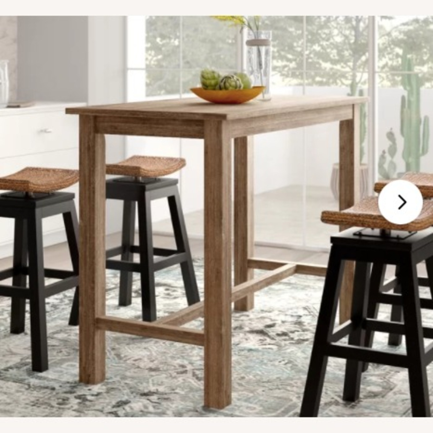 Wayfair Counter Height Rubberwood Solid Wood Dining Table - image-5