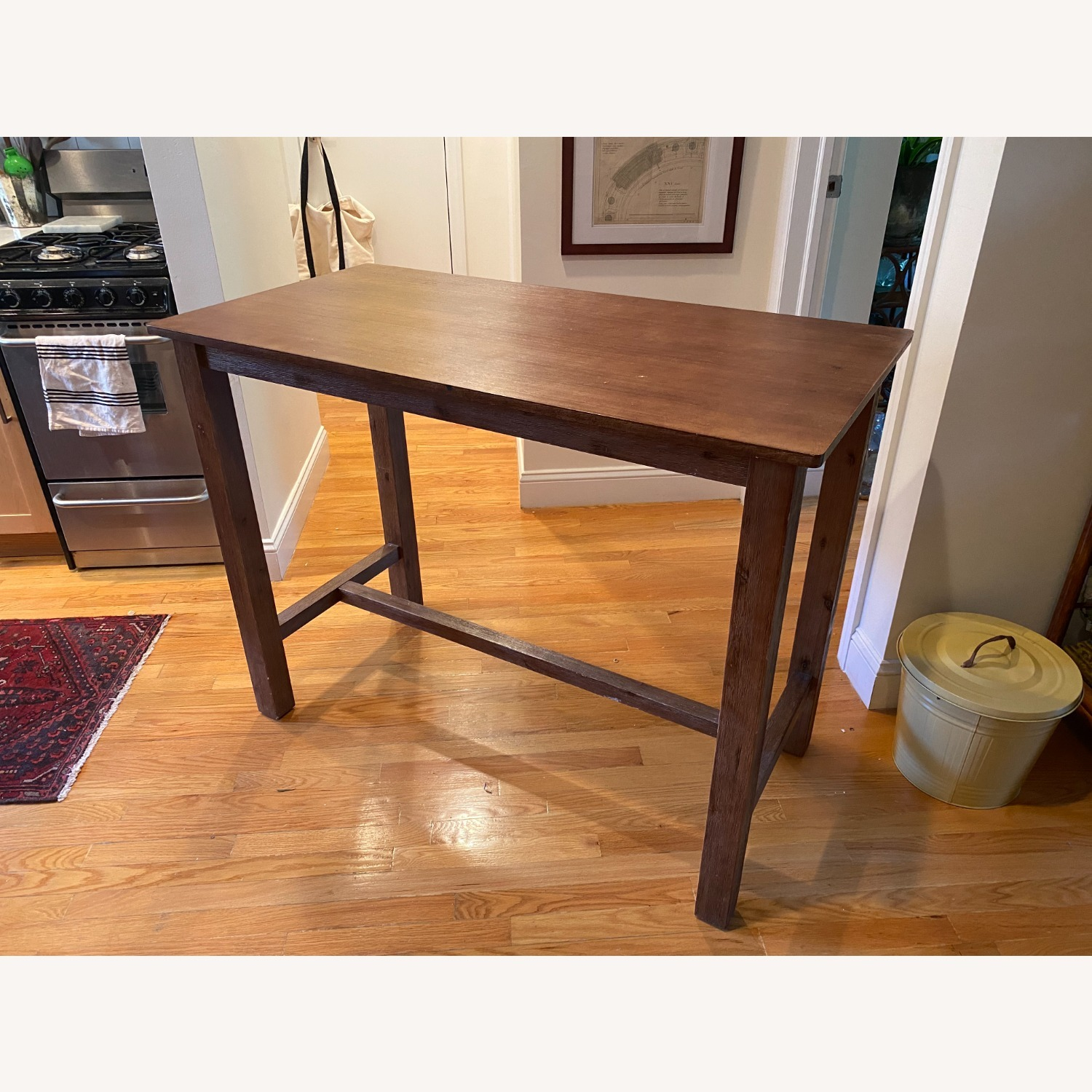 Wayfair Counter Height Rubberwood Solid Wood Dining Table - image-1