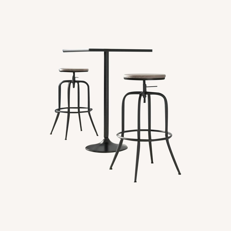Wayfair Swivel Adjustable Height Bar Stools (Set of 2) - image-0