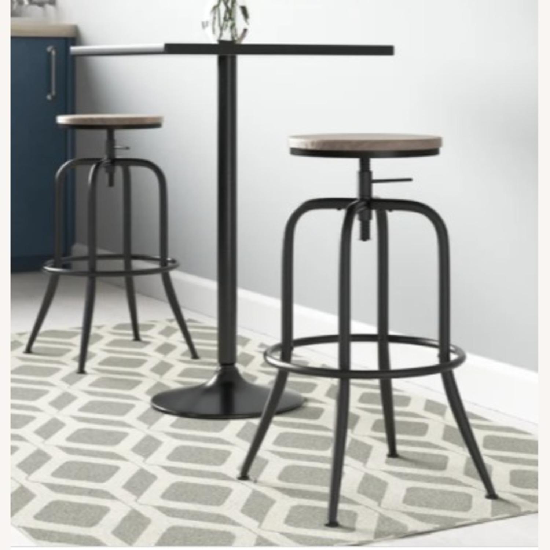 Wayfair Swivel Adjustable Height Bar Stools (Set of 2) - image-1