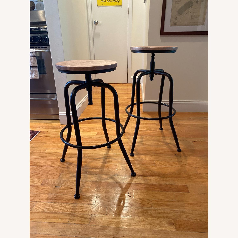 Wayfair Swivel Adjustable Height Bar Stools (Set of 2) - image-2