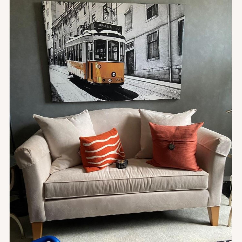 Cream Suede Sofa - image-0