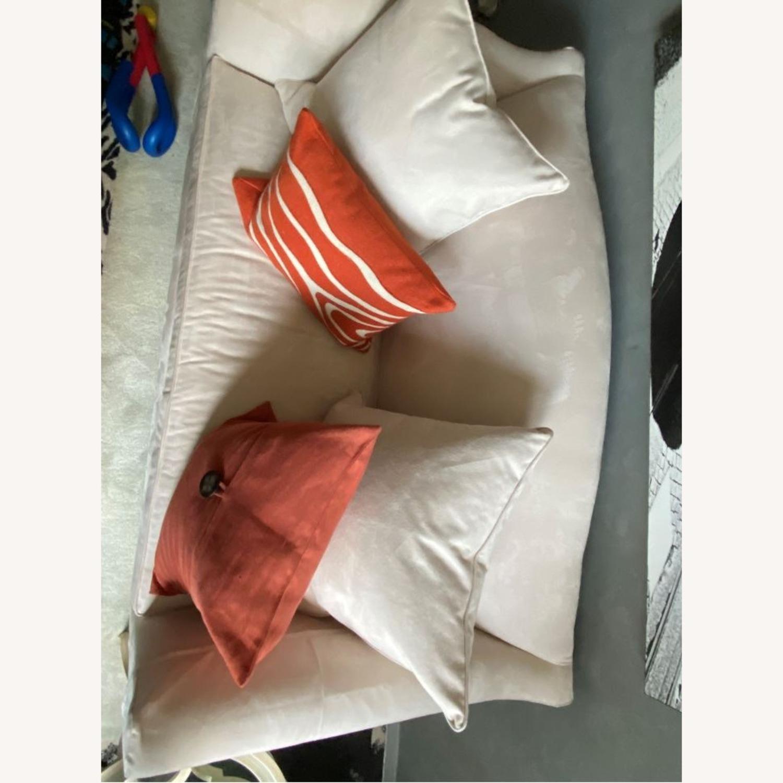 Cream Suede Sofa - image-1
