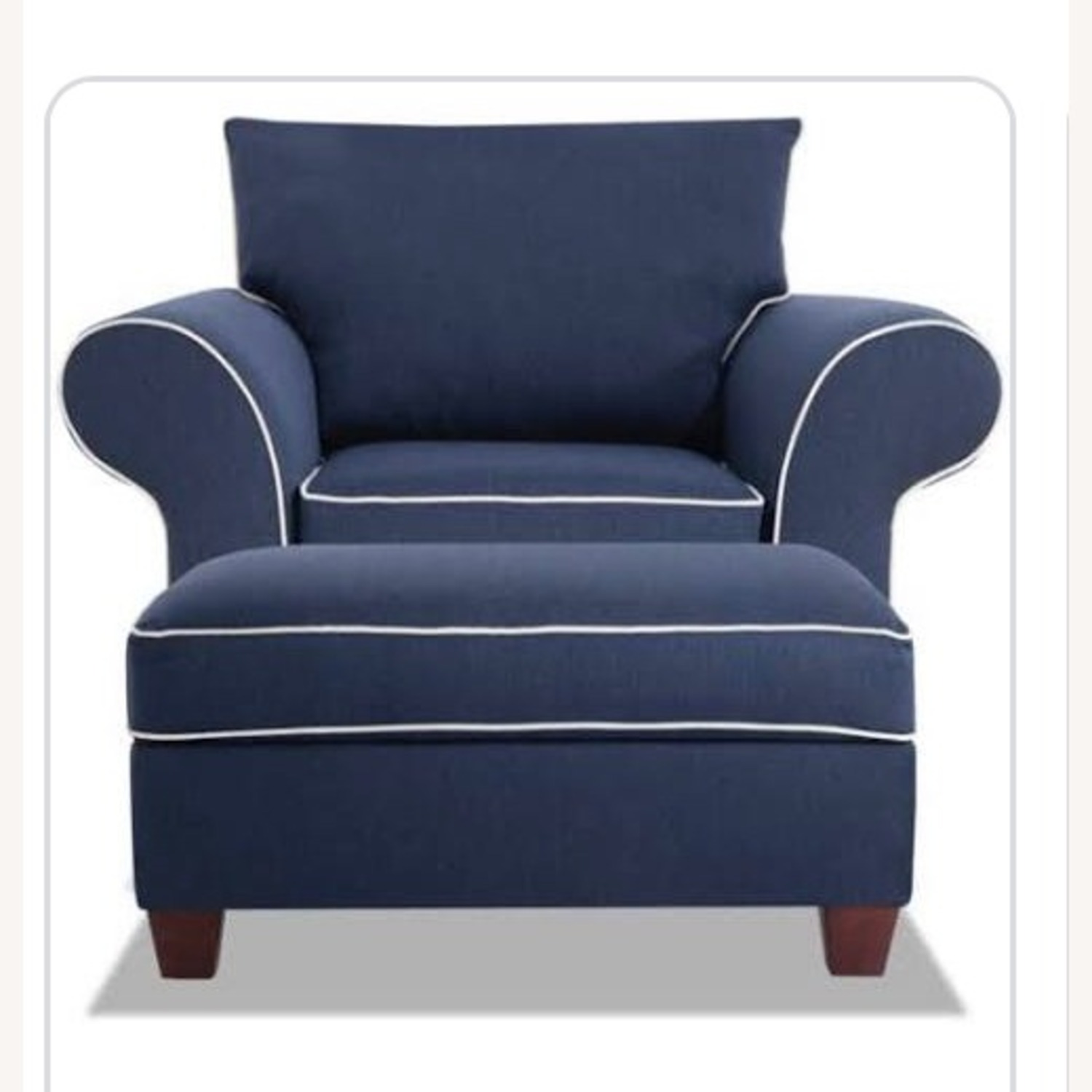 Bob's Discount Furniture Armchair with Ottoman - image-1