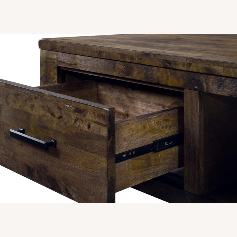 Dresser In Rustic Golden Brown W/ Wooden Handle - image-4