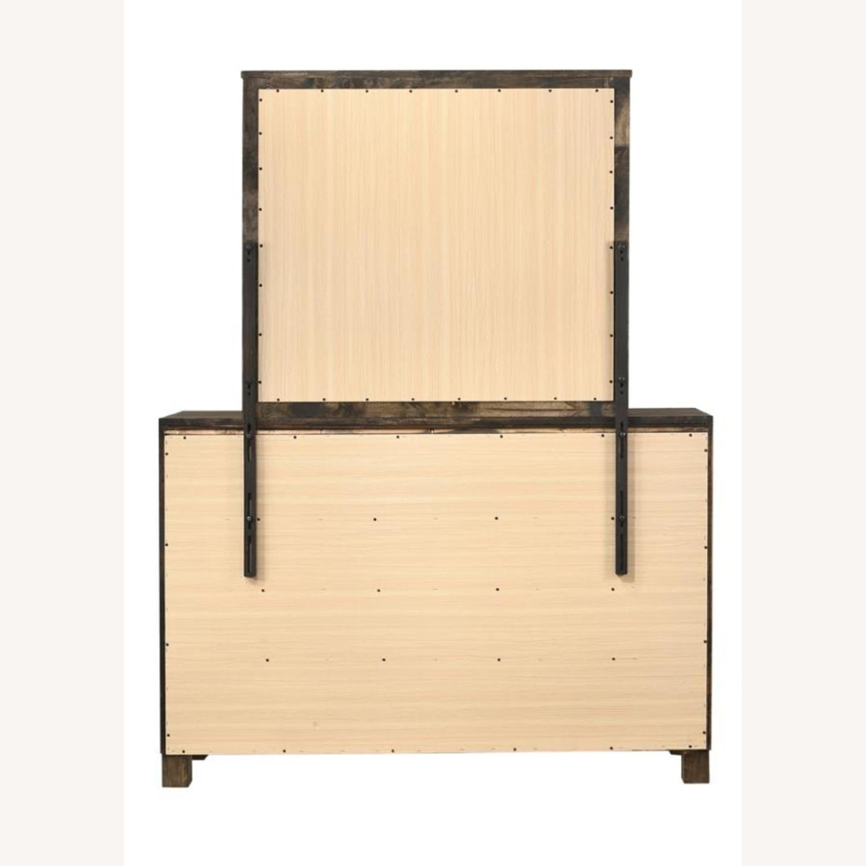 Dresser In Rustic Golden Brown W/ Wooden Handle - image-2