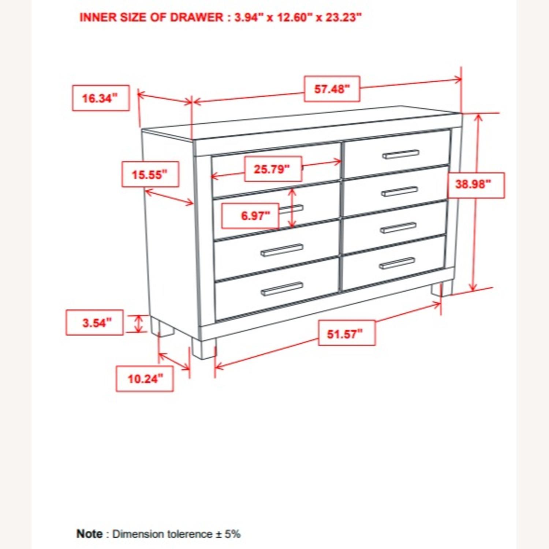 Dresser In Rustic Golden Brown W/ Wooden Handle - image-5