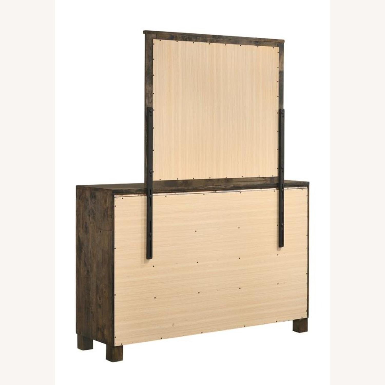 Dresser In Rustic Golden Brown W/ Wooden Handle - image-3