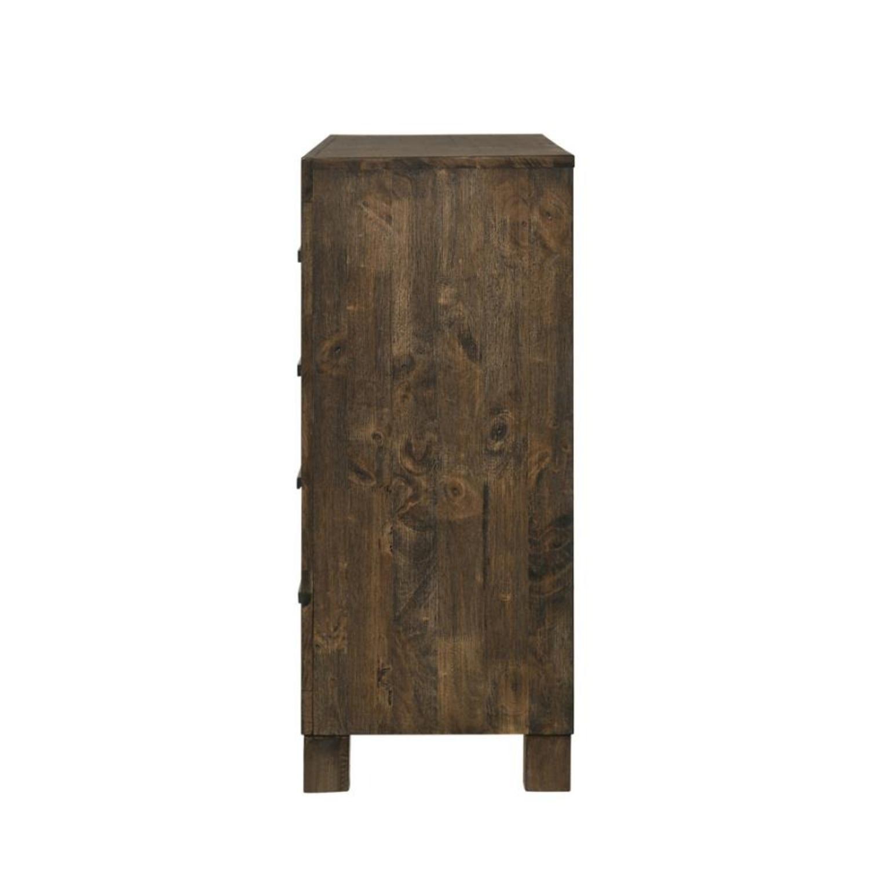 Dresser In Rustic Golden Brown W/ Wooden Handle - image-1