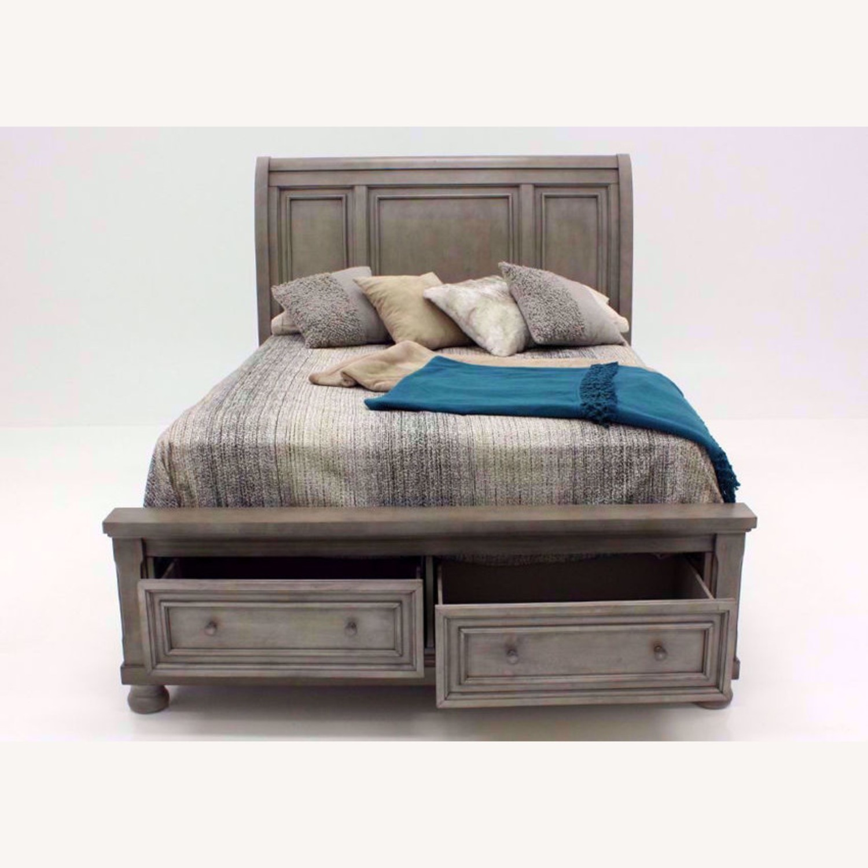 Ashley Furniture King Size Bed w/ Storage - image-2