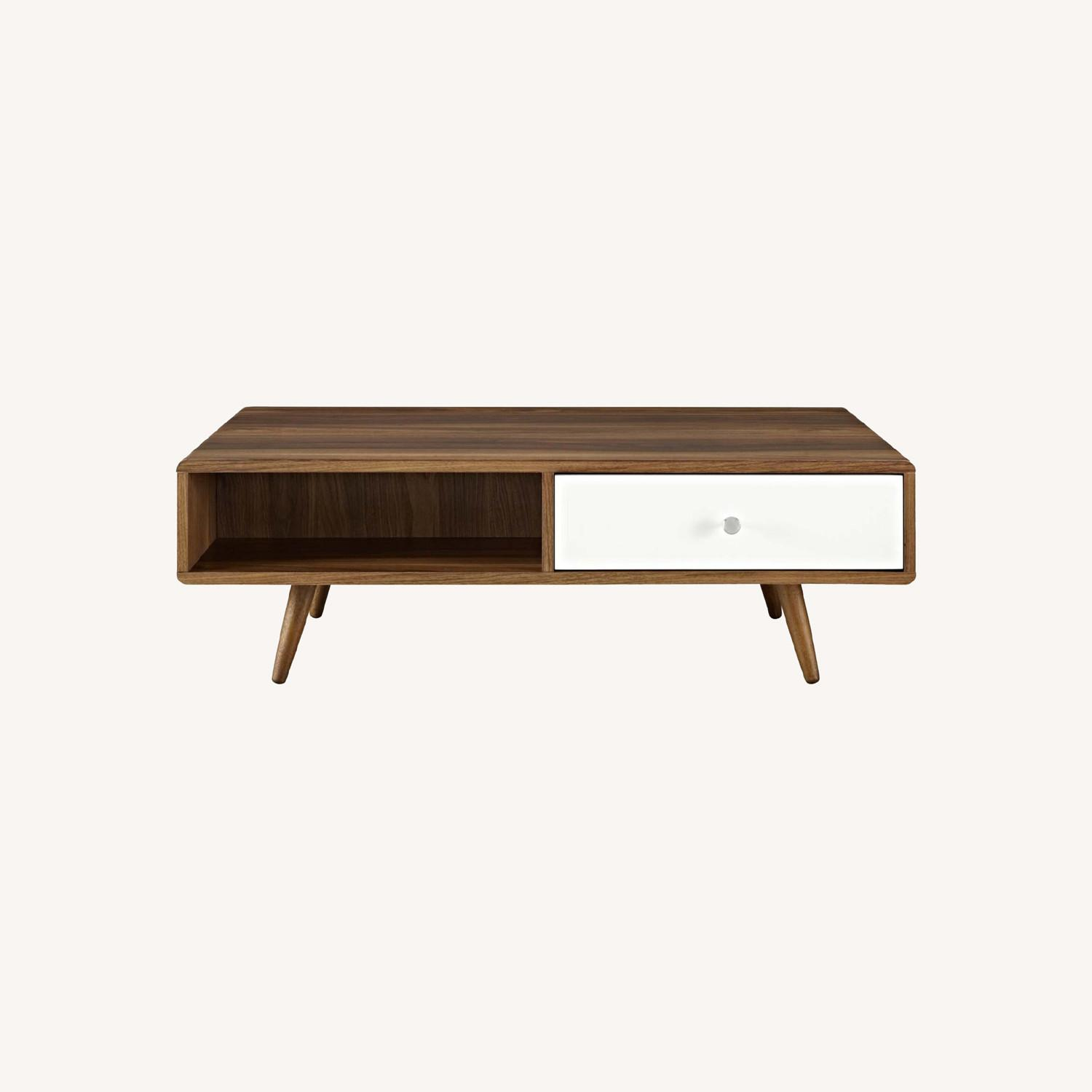 Modern Style Coffee Table In Walnut Finish - image-5