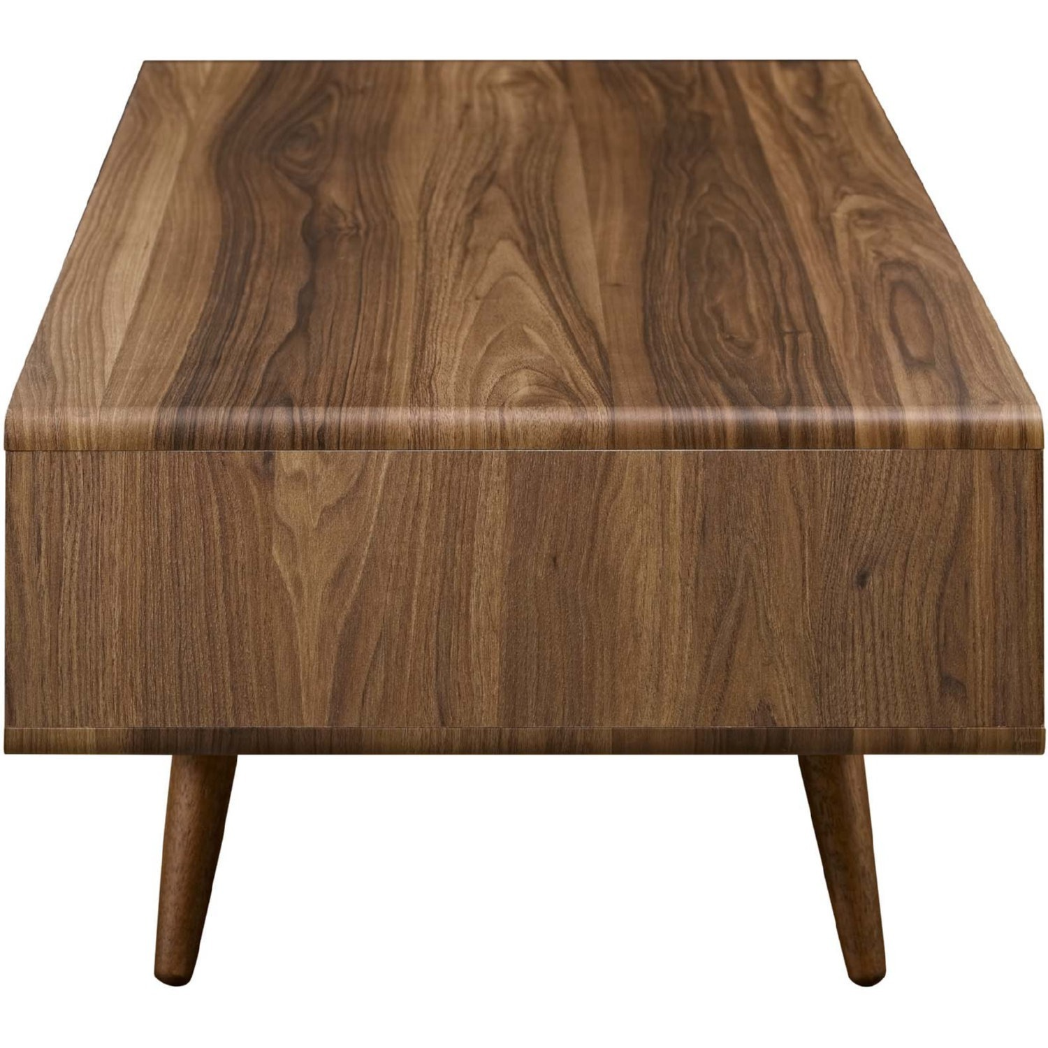 Modern Style Coffee Table In Walnut Finish - image-2