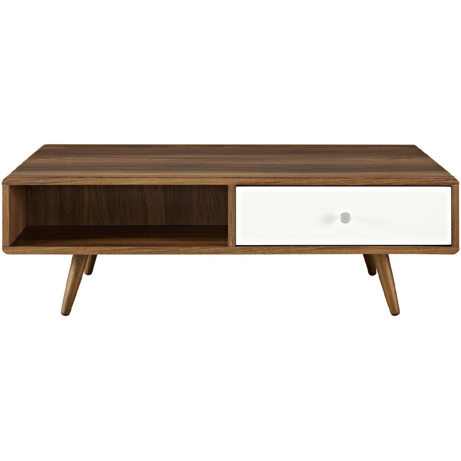 Modern Style Coffee Table In Walnut Finish - image-0