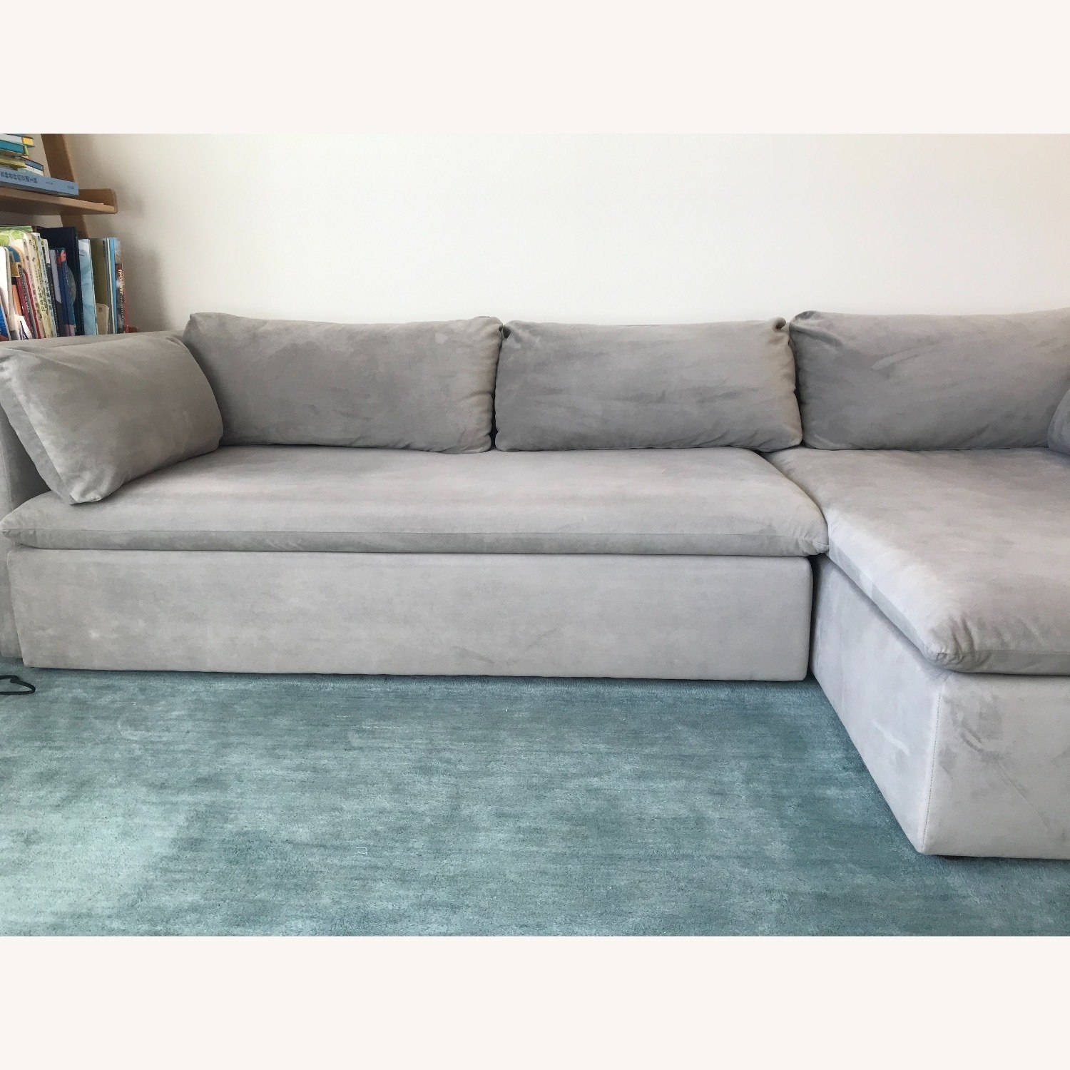West Elm Shelter Sectional Sofa Dove Gray - image-1