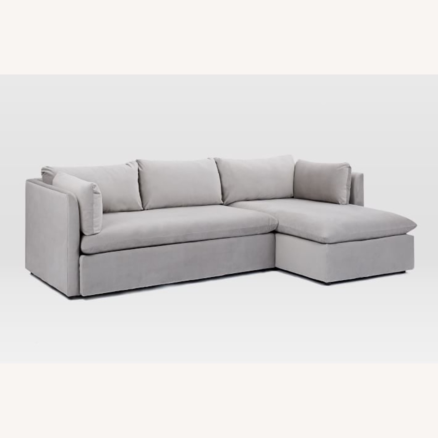 West Elm Shelter Sectional Sofa Dove Gray - image-8