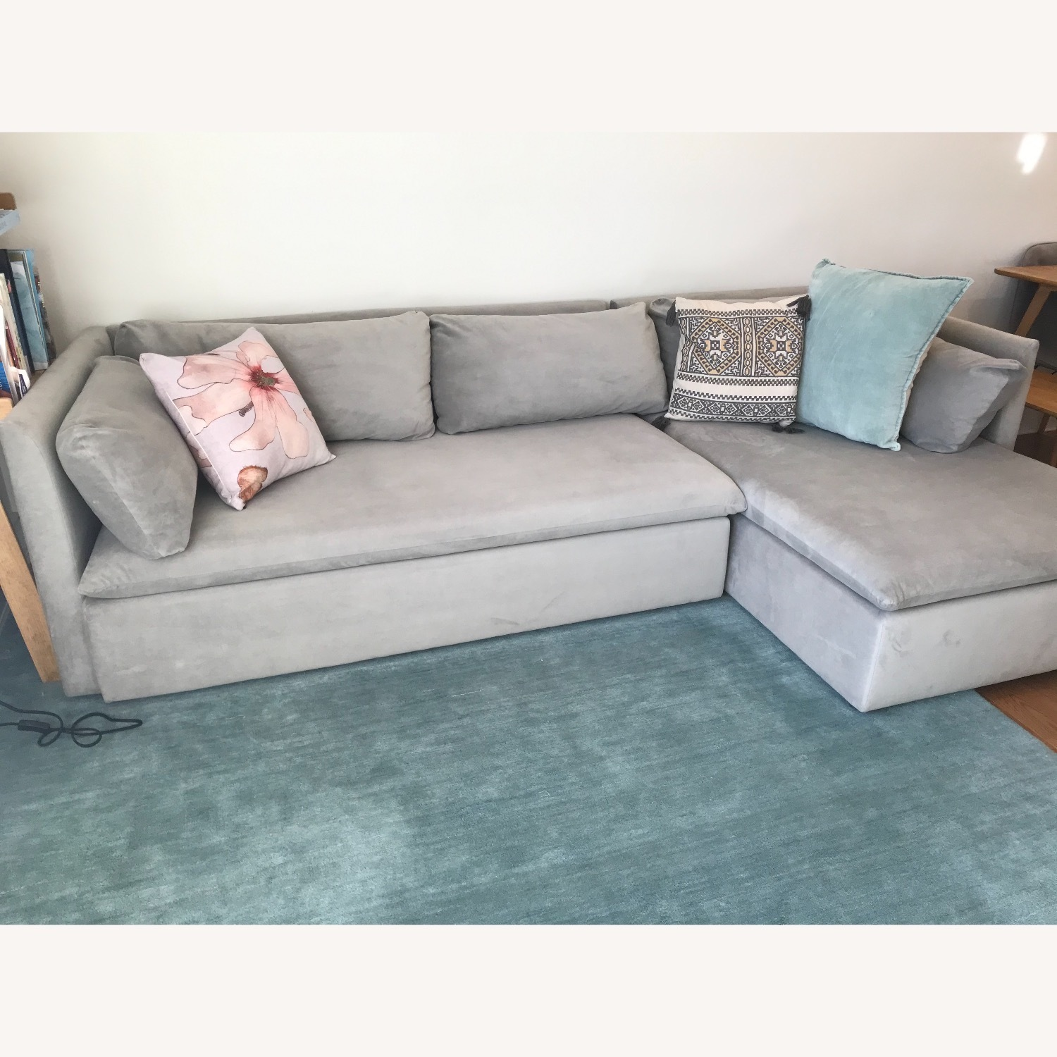 West Elm Shelter Sectional Sofa Dove Gray - image-7