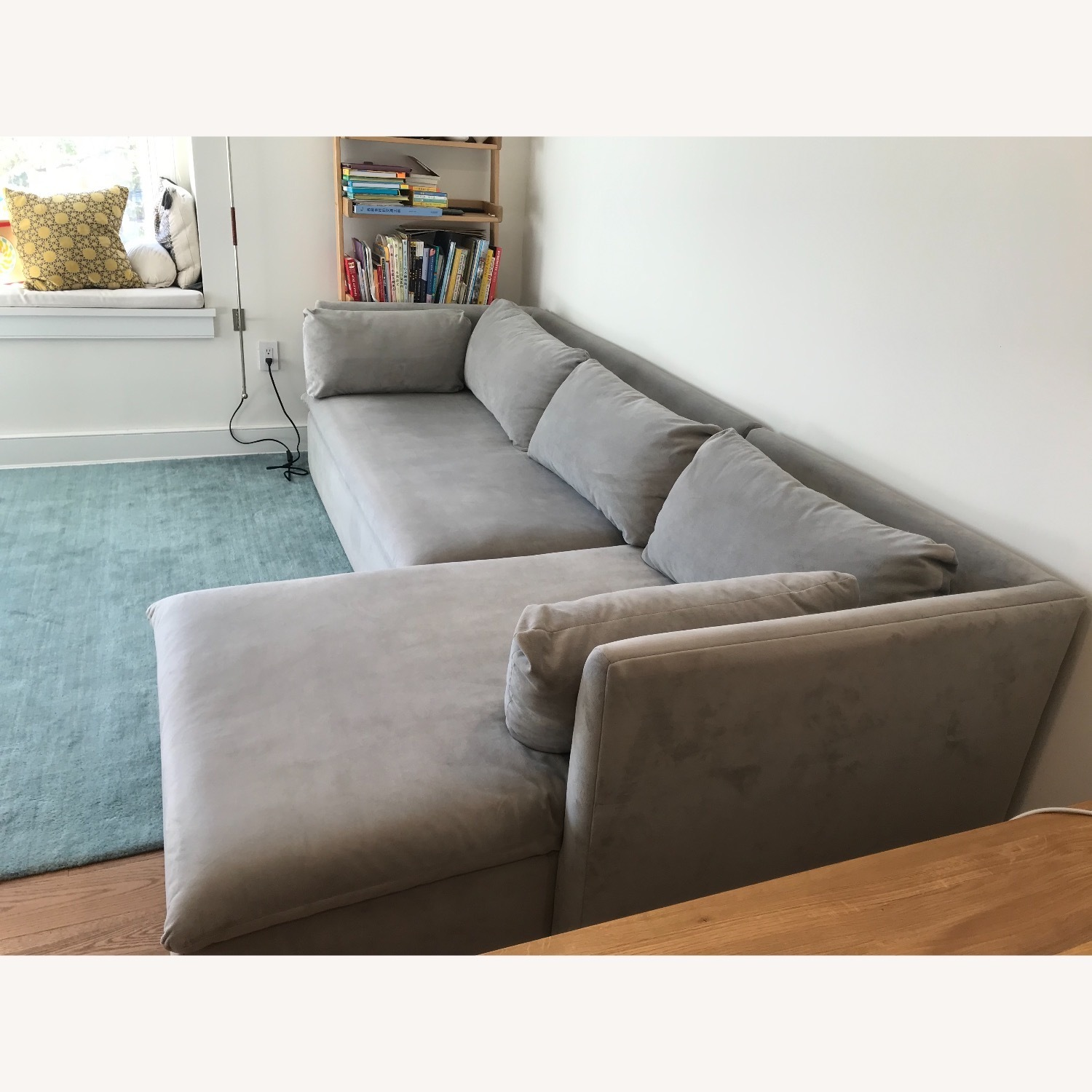 West Elm Shelter Sectional Sofa Dove Gray - image-5