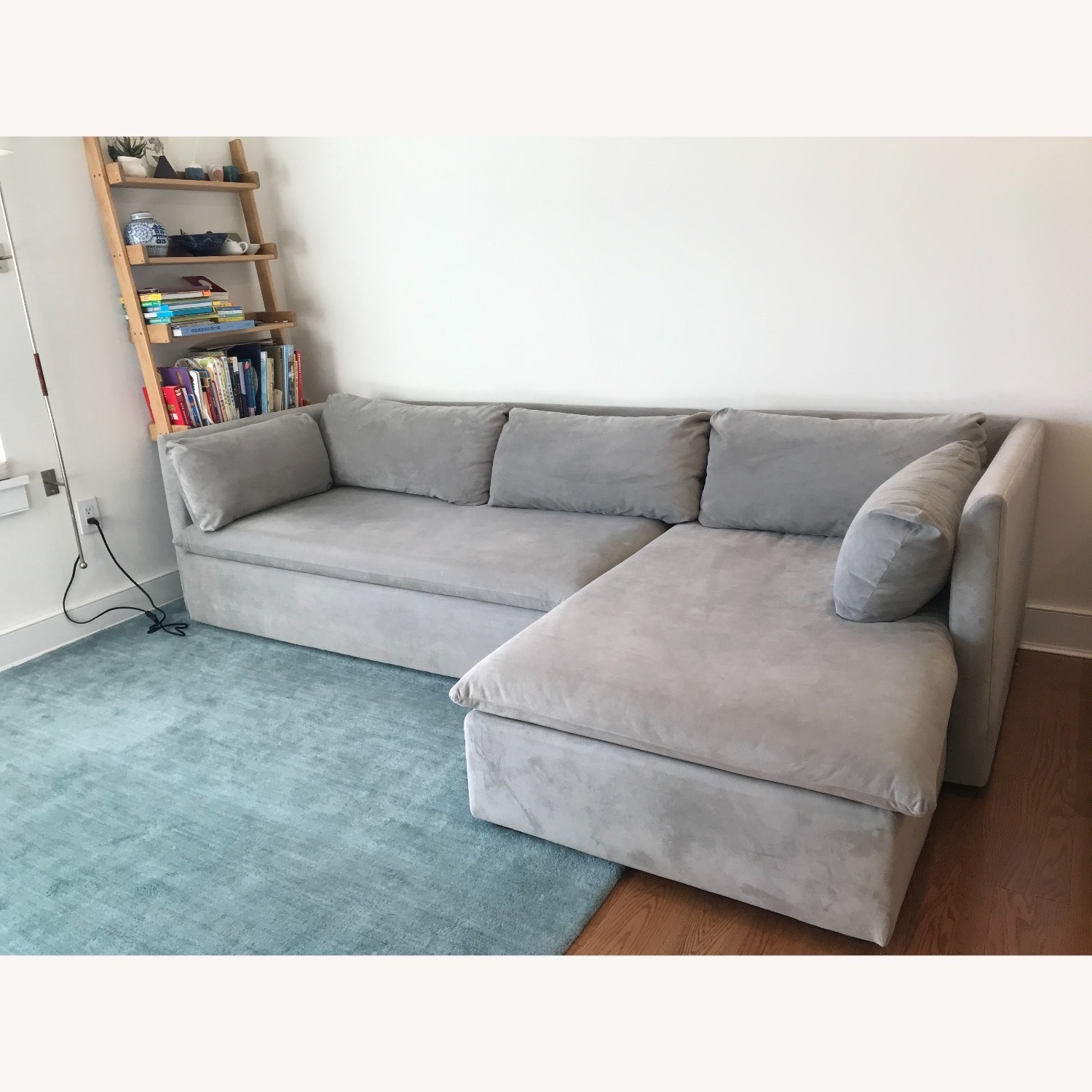 West Elm Shelter Sectional Sofa Dove Gray - image-4