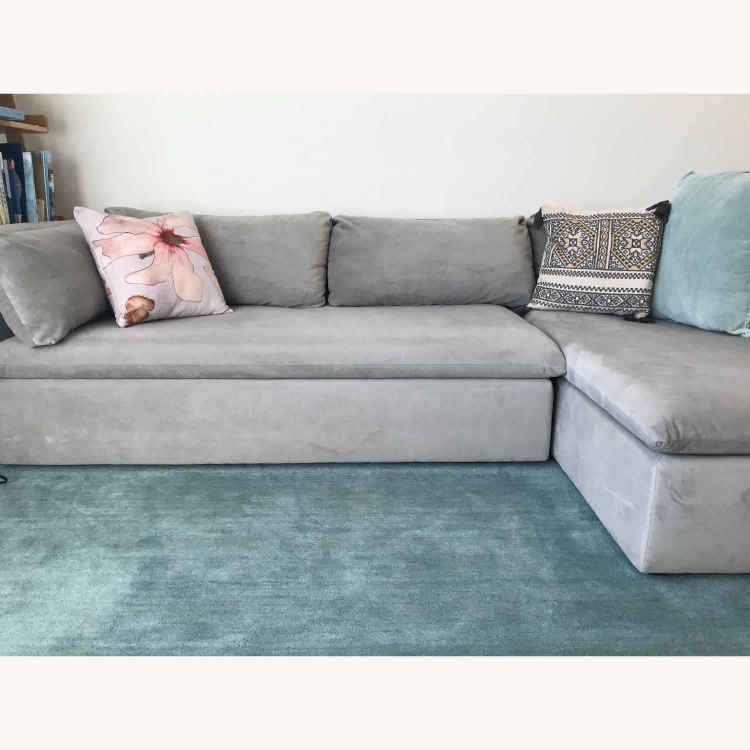 West Elm Shelter Sectional Sofa Dove Gray - image-10